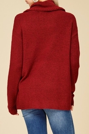 Staccato Drawstring Cowl Sweater - Side cropped