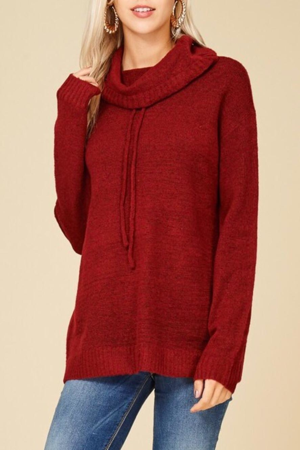Staccato Drawstring Cowl Sweater - Main Image
