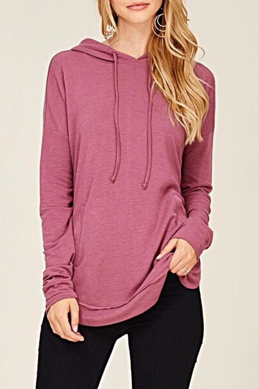 Staccato Drawstring Hooded Top - Main Image