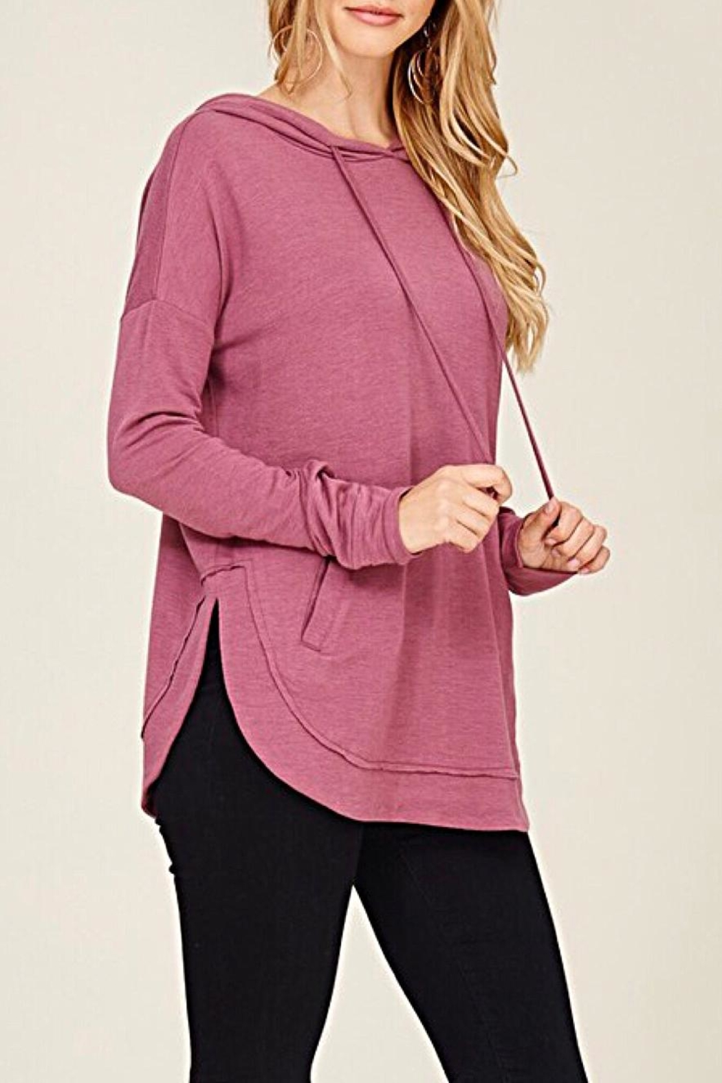 Staccato Drawstring Hooded Top - Front Full Image