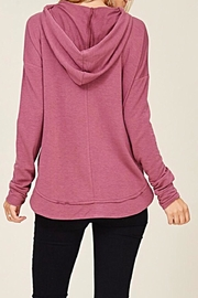 Staccato Drawstring Hooded Top - Back cropped