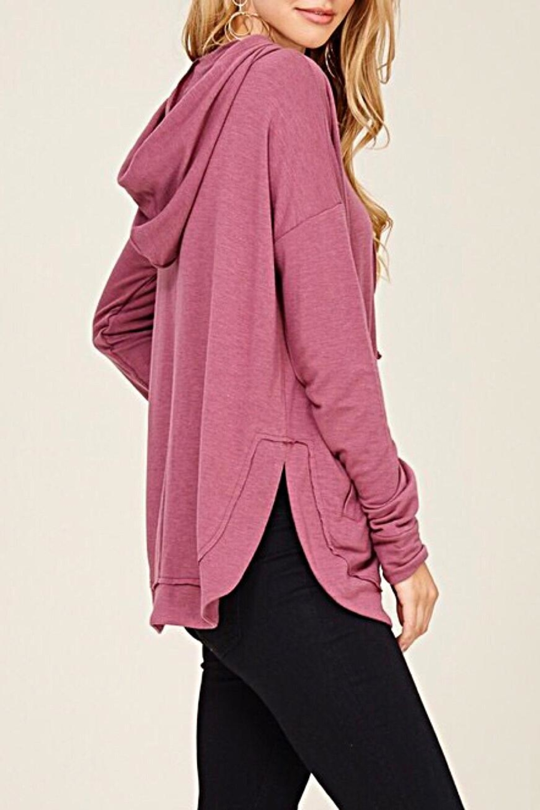 Staccato Drawstring Hooded Top - Side Cropped Image
