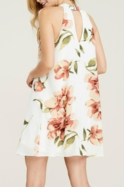 Staccato Floral Halter Dress - Side cropped