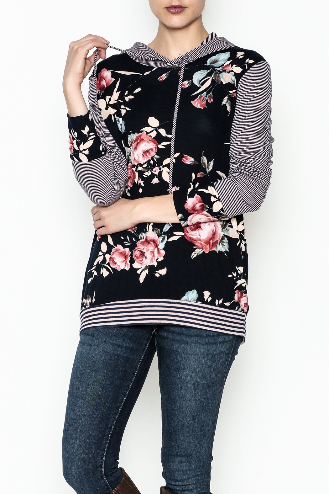 Staccato Floral Hoodie - Main Image