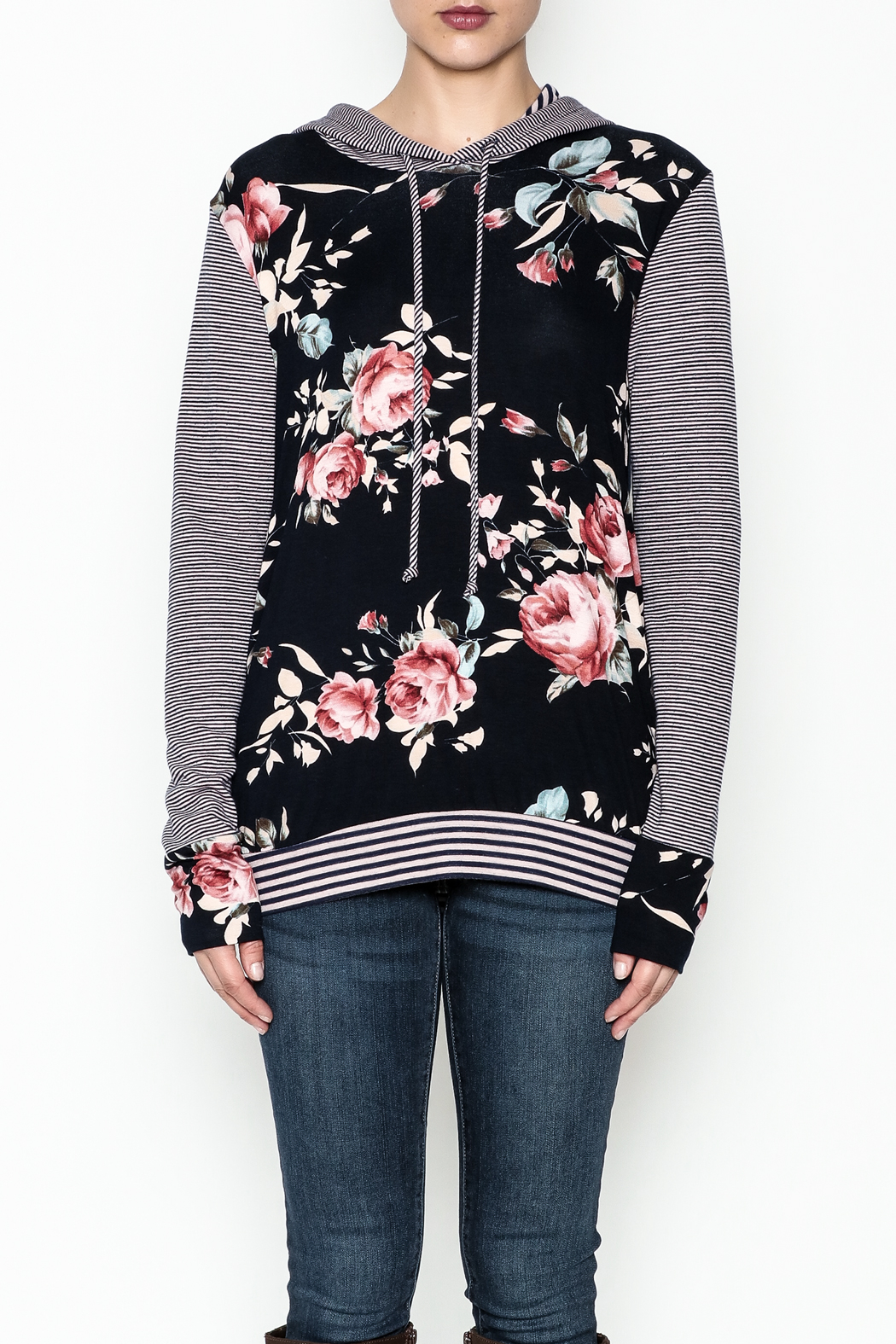 Staccato Floral Hoodie - Front Full Image