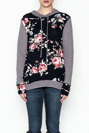 Staccato Floral Hoodie - Front full body