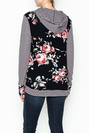Staccato Floral Hoodie - Back cropped