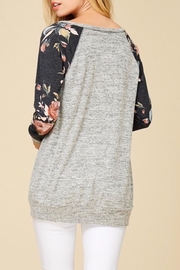 Staccato Floral Raglan Top - Side cropped