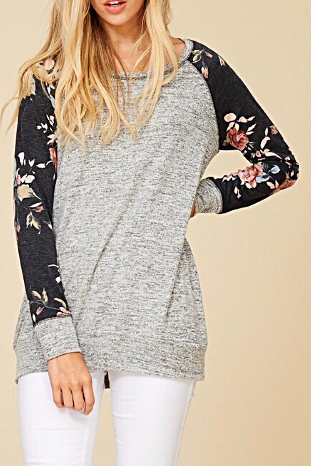 Staccato Floral Raglan Top - Main Image