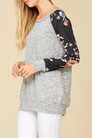 Staccato Floral Raglan Top - Front full body