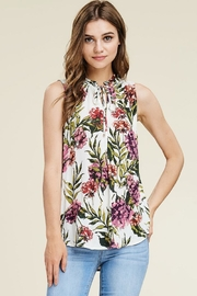 Staccato Floral Tie Top - Product Mini Image