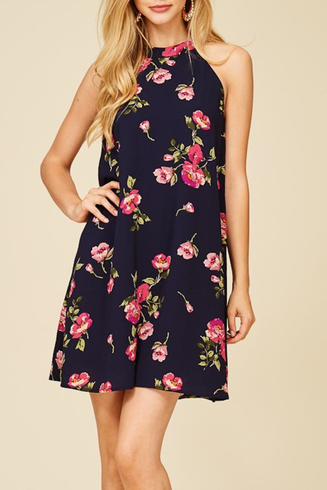 Staccato Fresh Cut Flowers Dress - Side Cropped Image