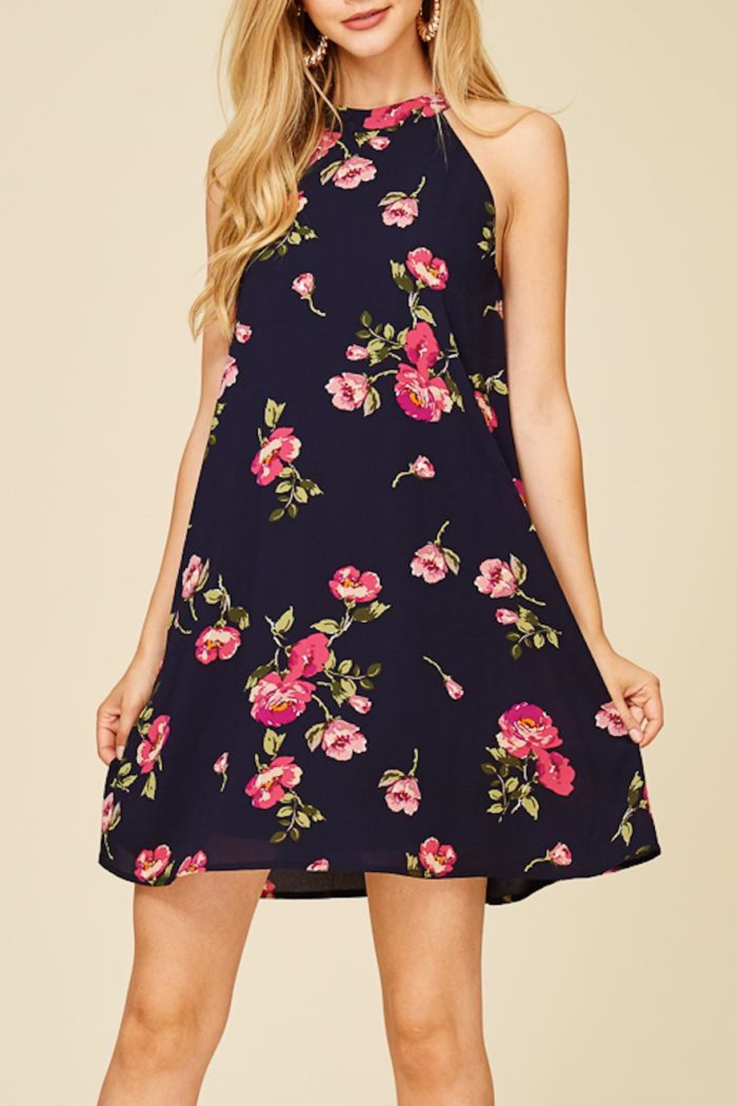 Staccato Fresh Cut Flowers Dress - Front Full Image
