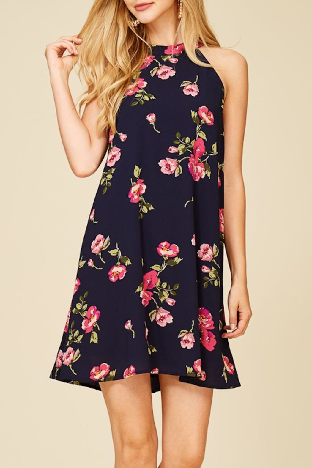 Staccato Fresh Cut Flowers Dress - Back Cropped Image