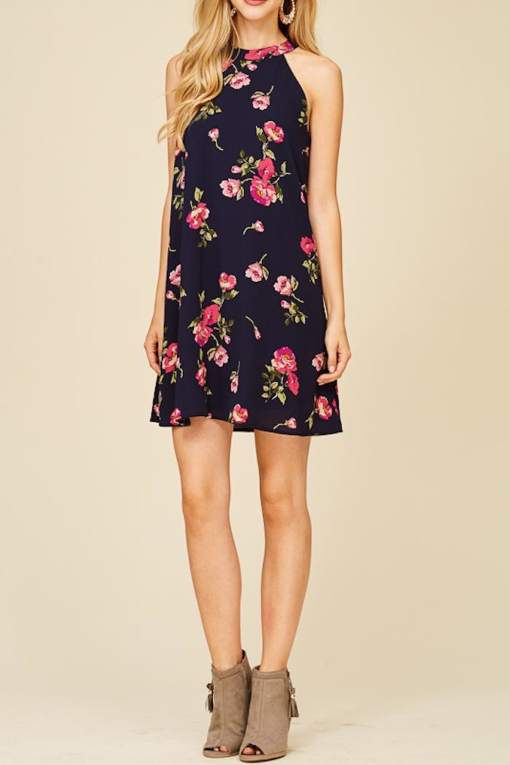 Staccato Fresh Cut Flowers Dress - Main Image
