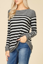 Staccato Fuzzy Striped Top - Back cropped