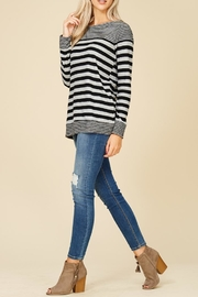 Staccato Fuzzy Striped Top - Other
