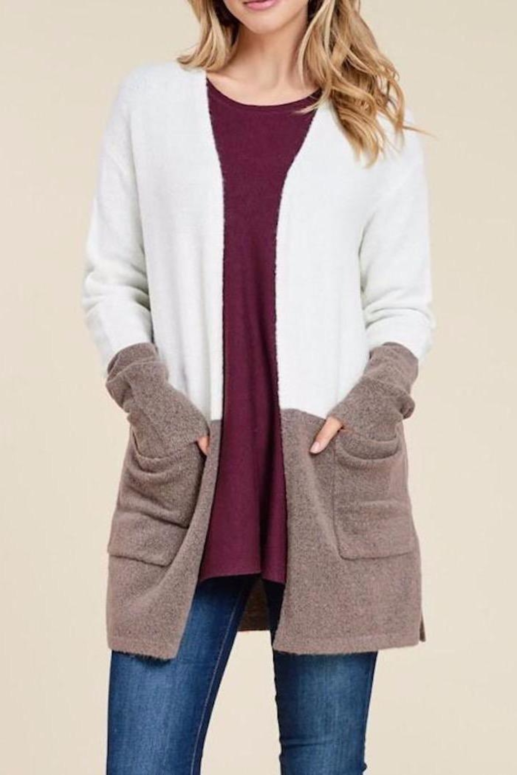 Staccato Fuzzy Wuzzy Cardi - Front Cropped Image