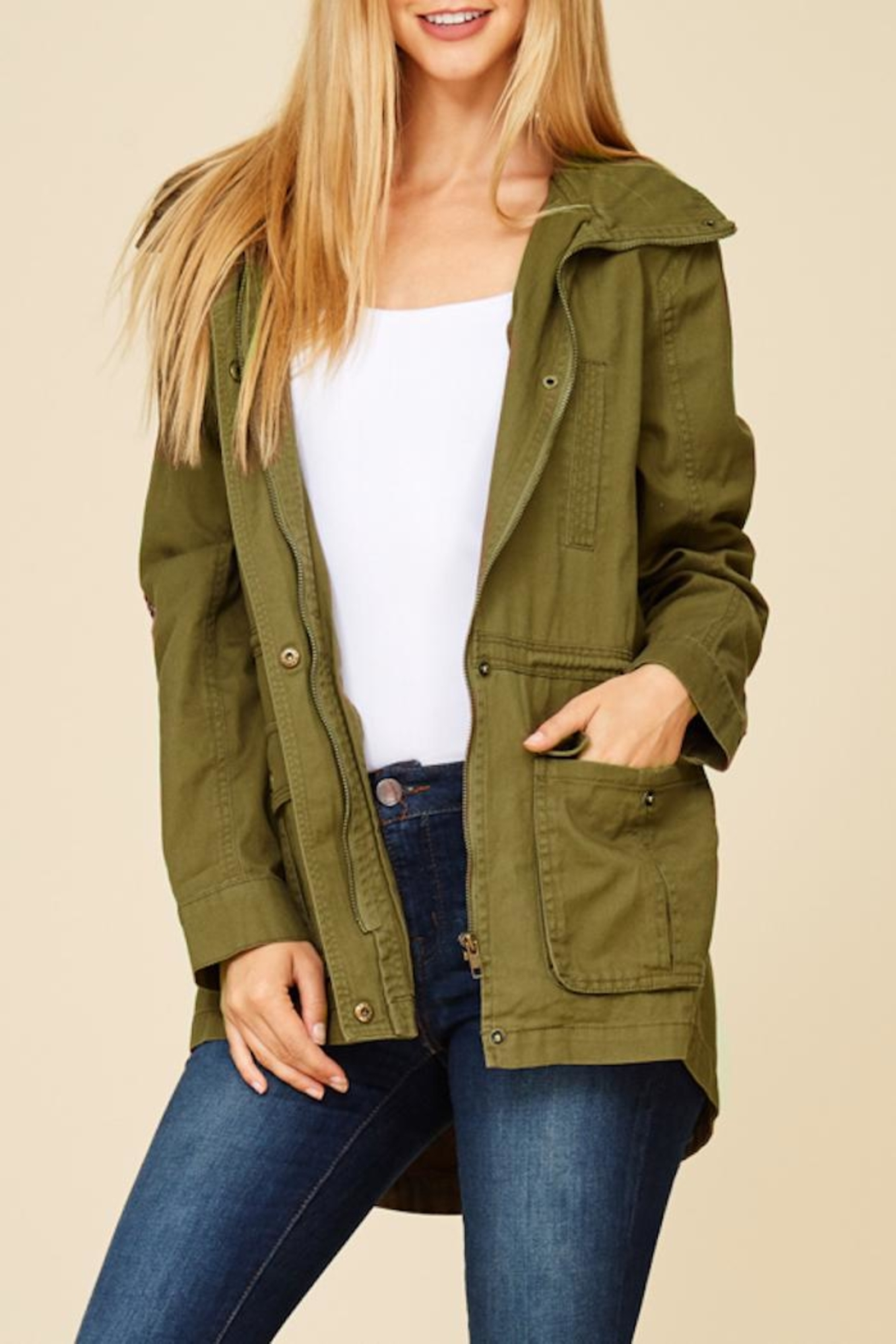 Staccato Hidden Patches Jacket - Front Full Image