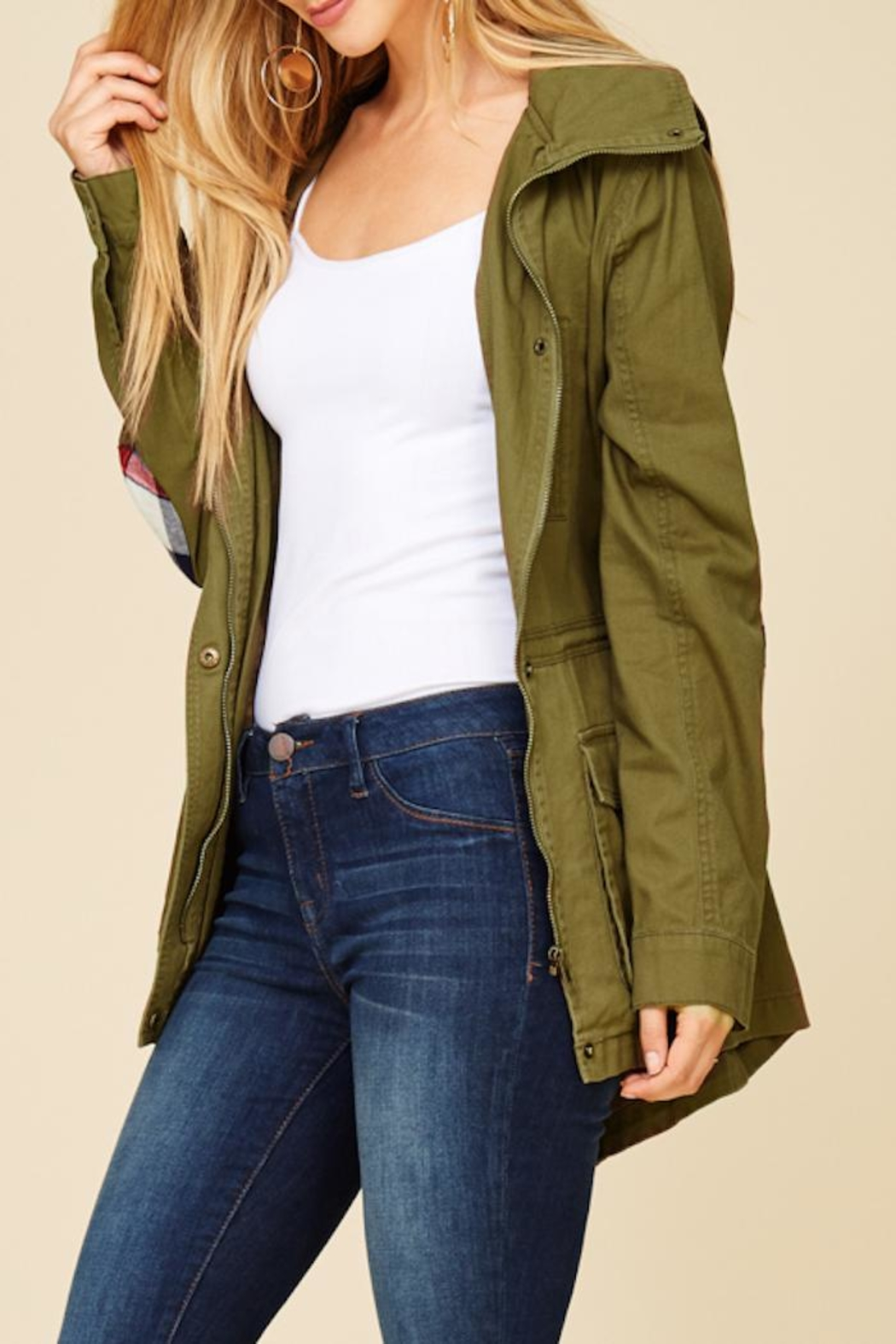 Staccato Hidden Patches Jacket - Back Cropped Image