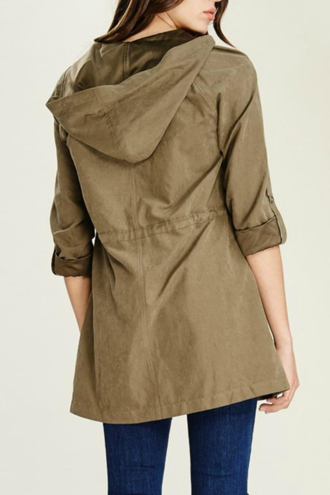 Staccato Hooded Anorak Jacket - Side Cropped Image