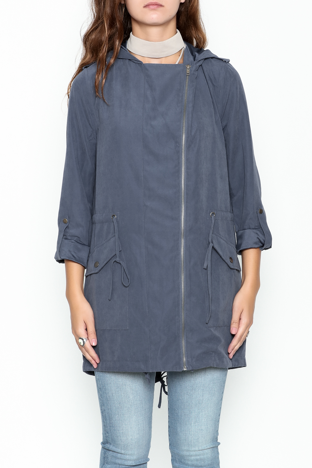 Staccato Hooded Anorak Jacket - Front Full Image