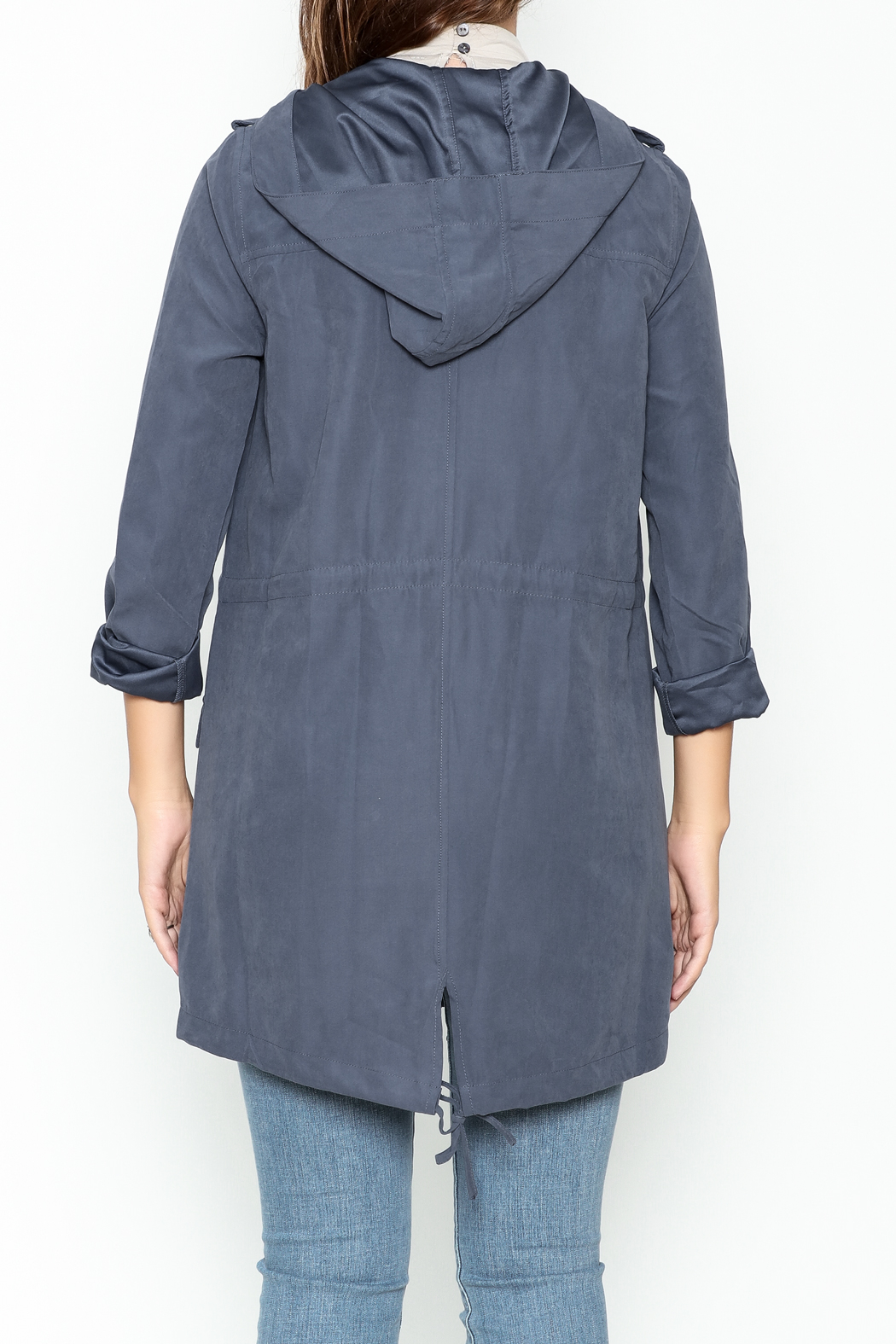 Staccato Hooded Anorak Jacket - Back Cropped Image