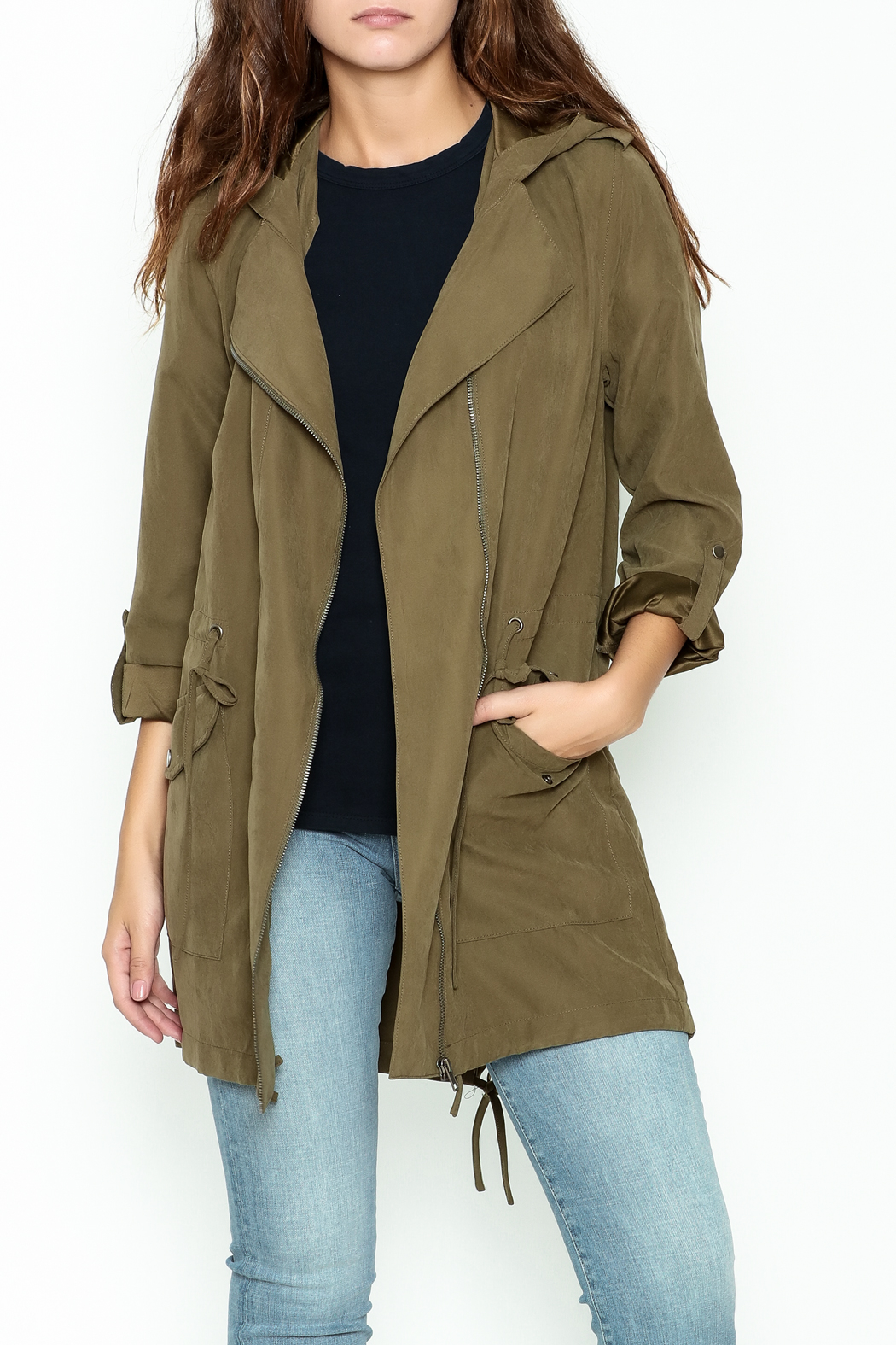 Staccato Hooded Anorak Jacket - Front Cropped Image