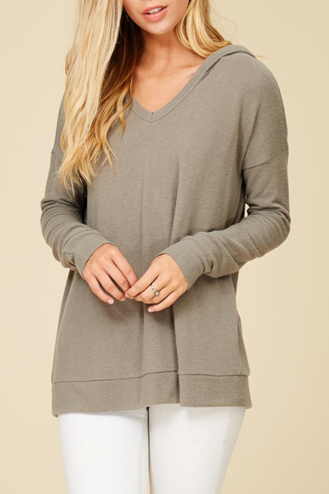 Staccato Hoodwinked Knit Top - Front Full Image