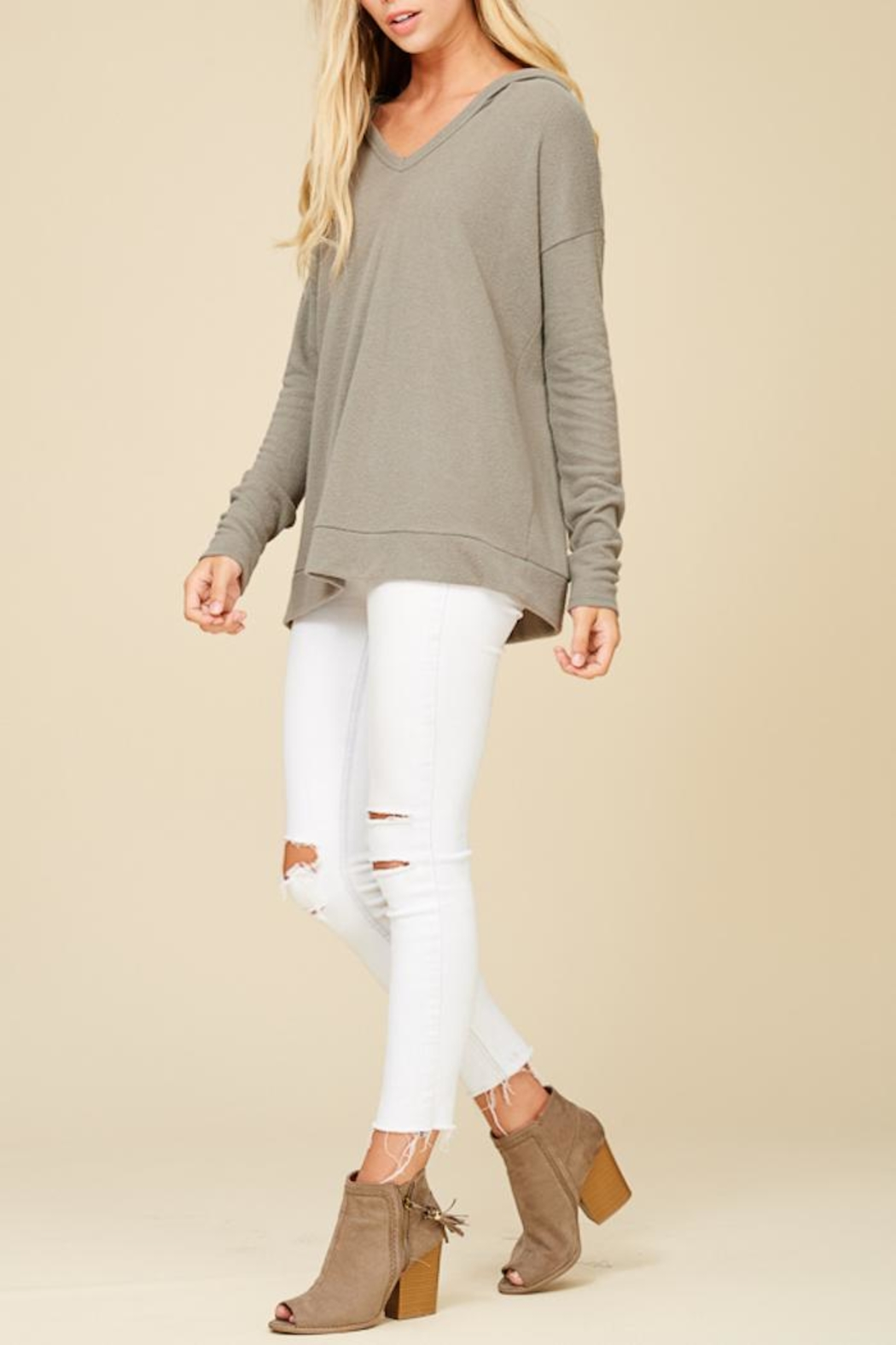 Staccato Hoodwinked Knit Top - Front Cropped Image
