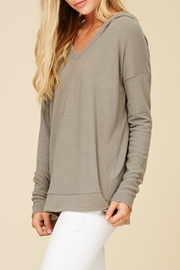 Staccato Hoodwinked Knit Top - Back cropped