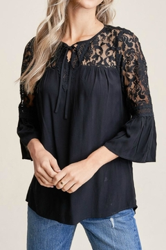 Staccato Lace Inset Top - Product List Image