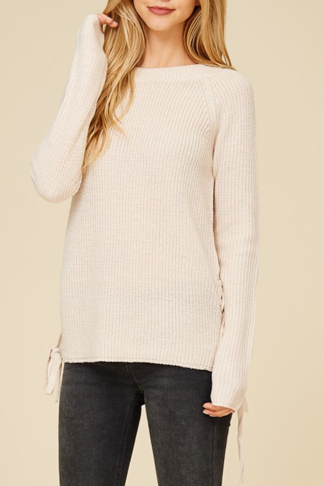 Staccato Lace Me Up Sweater - Main Image