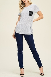 Staccato Lace Pocket Tee - Product Mini Image