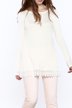 Staccato Lace Trim Tunic Top - Product List Image