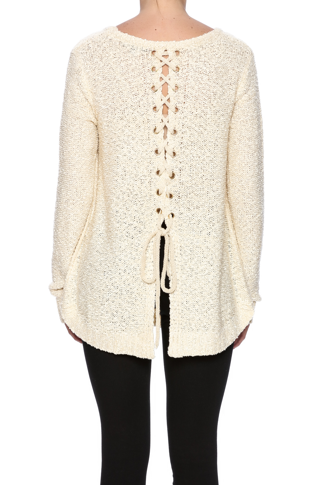 e98f42fe20 Staccato Lace Up Back Sweater from Kentucky by Lennon   Lace ...