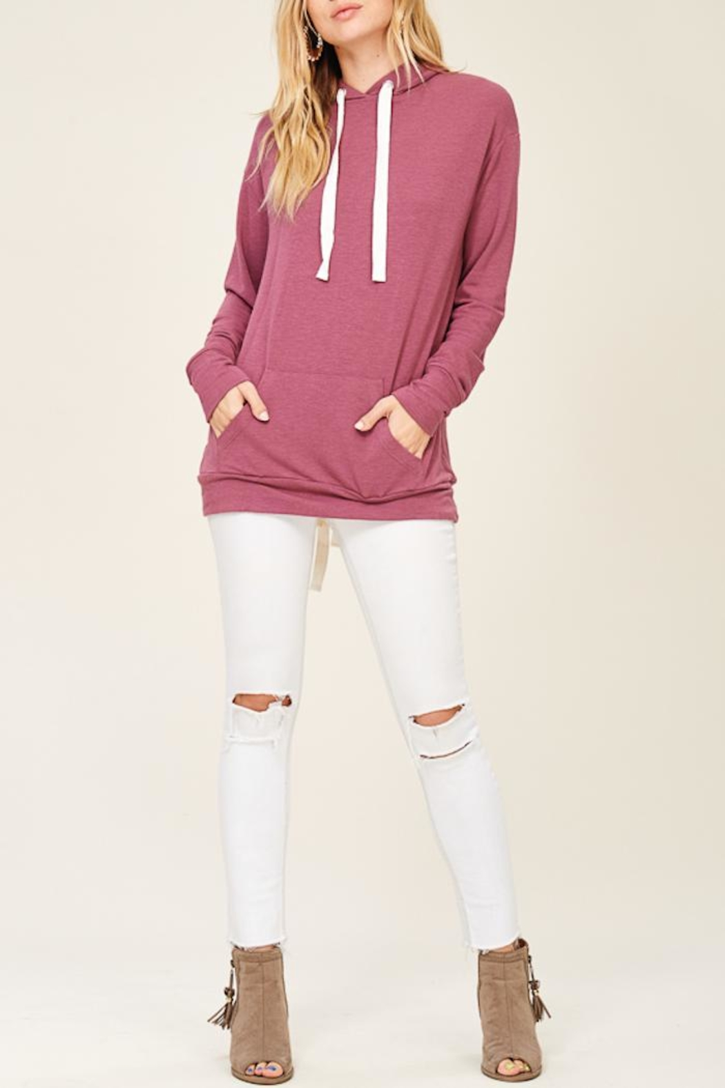 Staccato Lace Up Hoodie - Main Image
