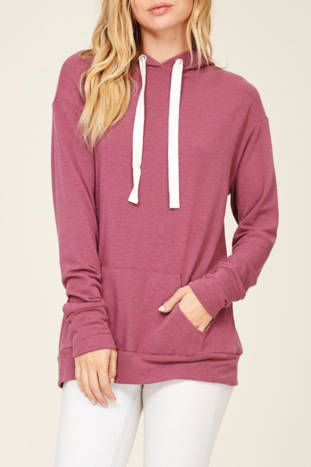Staccato Lace Up Hoodie - Front Full Image