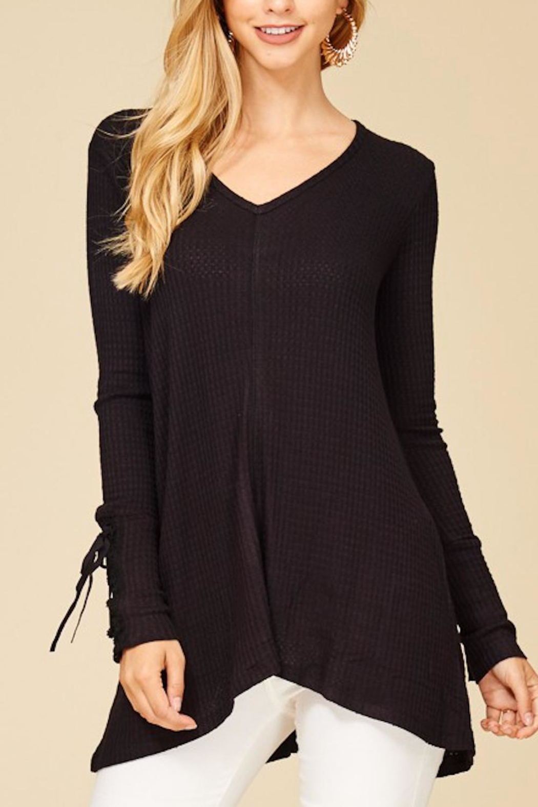Staccato Lace-Up Sleeve Thermal - Main Image