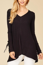 Staccato Lace-Up Sleeve Thermal - Front cropped