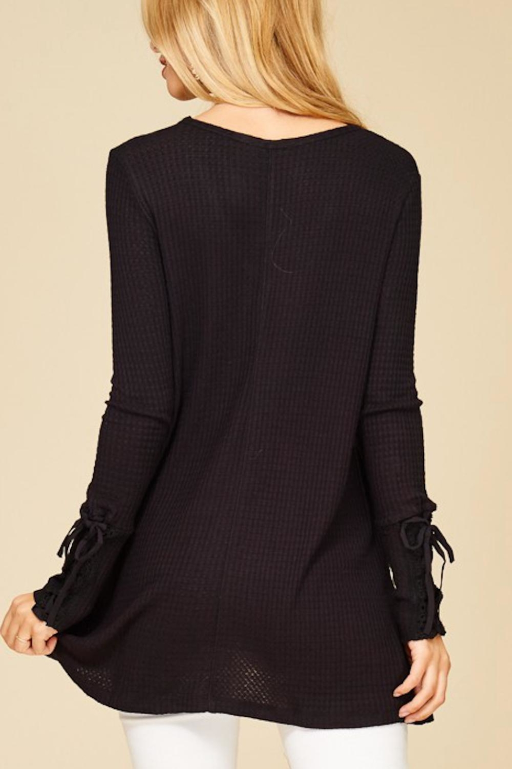 Staccato Lace-Up Sleeve Thermal - Front Full Image