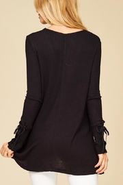 Staccato Lace-Up Sleeve Thermal - Front full body