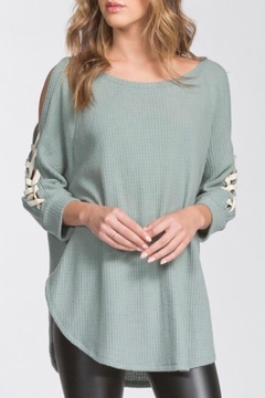 Shoptiques Product: Lace-Up Sleeve Top