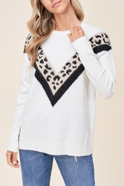 Staccato Leopard Varsity Sweater - Product Mini Image