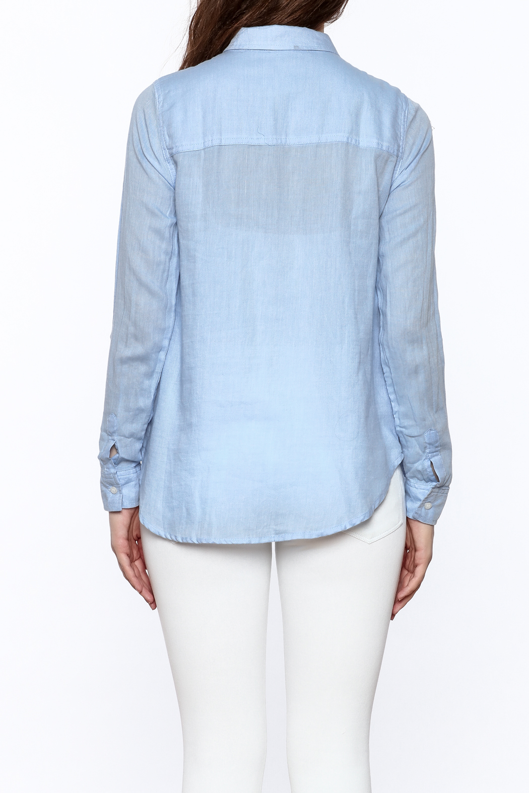 Staccato Light Blue Button Down - Back Cropped Image