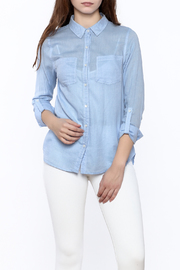 Staccato Light Blue Button Down - Front cropped