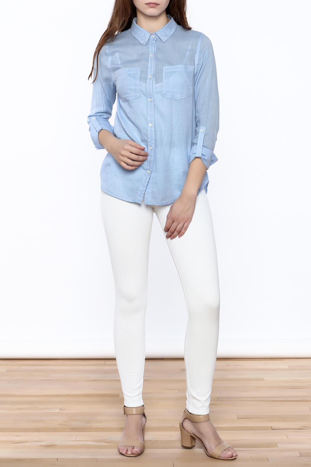 Staccato Light Blue Button Down - Front Full Image