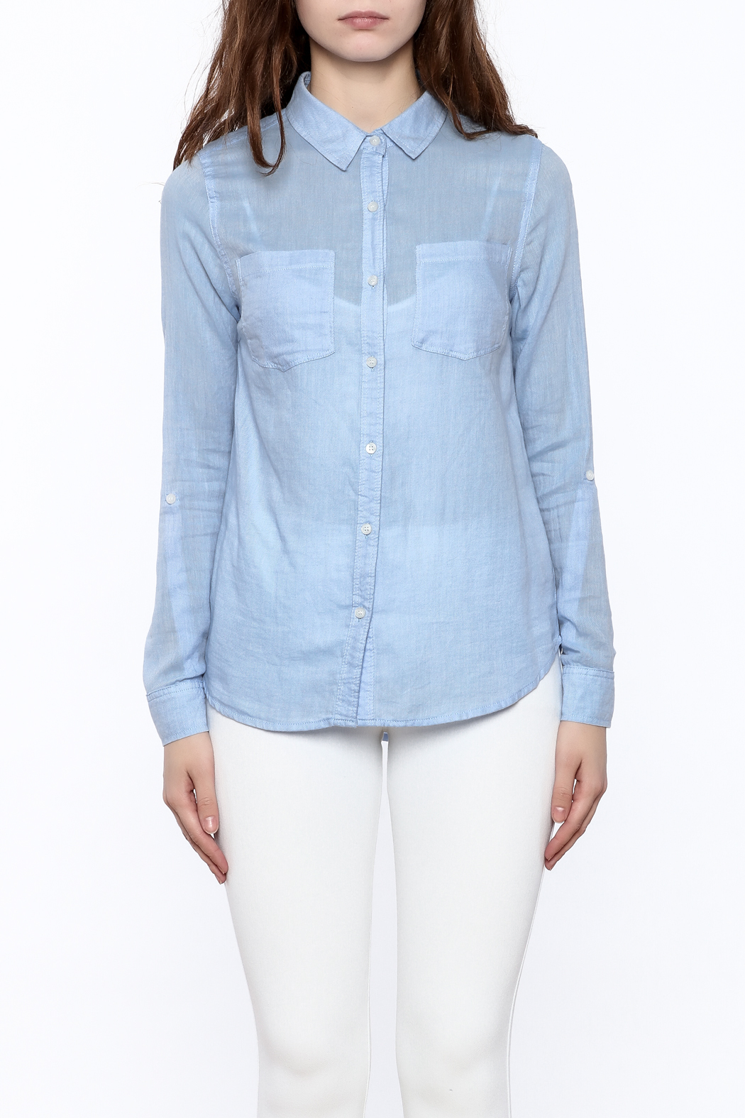Staccato Light Blue Button Down - Side Cropped Image