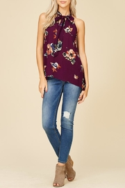Staccato Magnolia Blooms Top - Front cropped