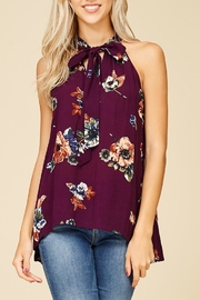Staccato Magnolia Blooms Top - Front full body